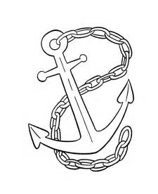 anchor coloring page a picture of an anchor cliparts co