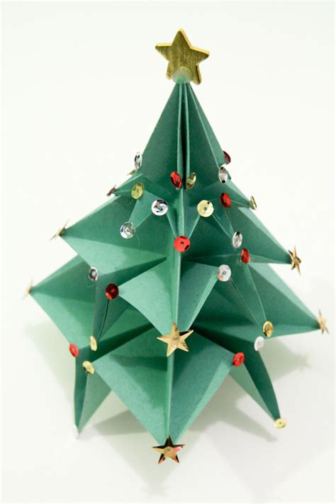 origami christmas trees origami tree 183 an origami tree 183 origami on cut out keep
