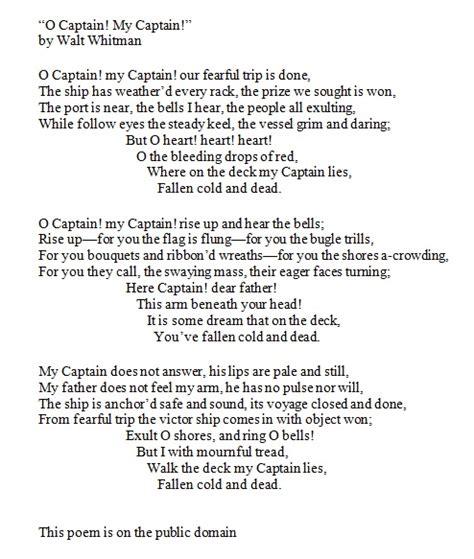 O Captain My Captain Essay by Graduation Essay