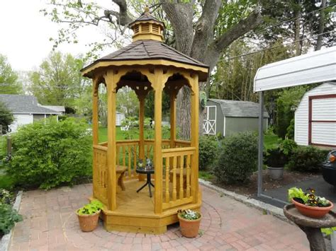 Small Patio Gazebo Step By Step A Small Backyard Gazebo