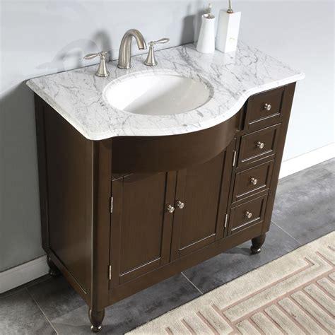Vanity L by 6902 Wm 38 L 38 Single Sink Vanity Carrara White Marble Top Cabinet