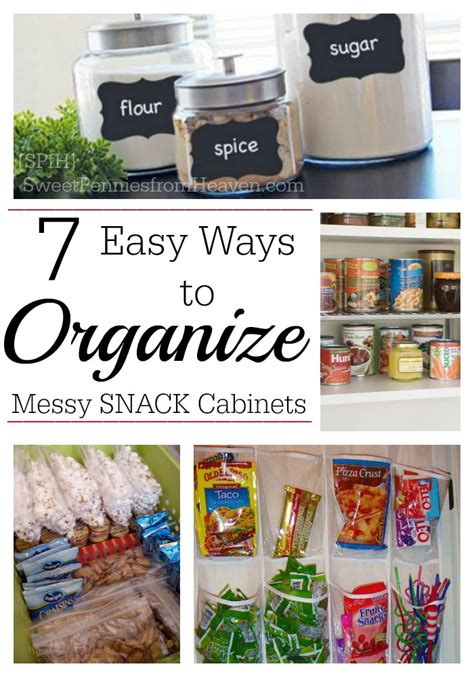 7 easy ways to organize snack cabinets and pantries