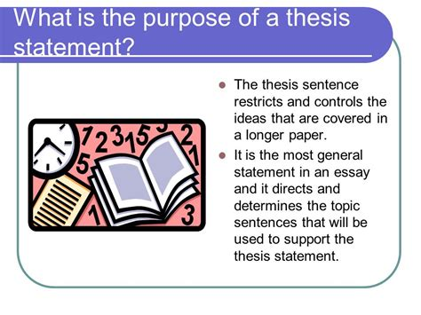 what is the purpose of a thesis writing an amazing thesis statement ppt