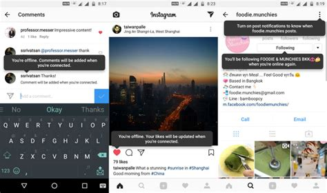 offline for android instagram for android beta gets offline mode