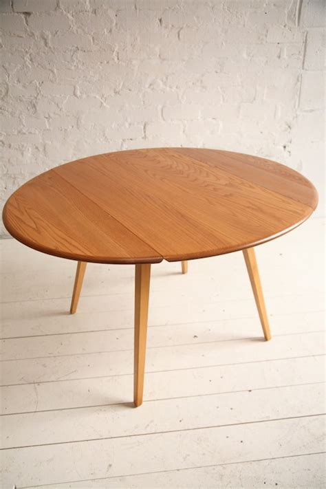 ercol drop leaf dining table and chrome