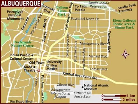 albuquerque map map of albuquerque