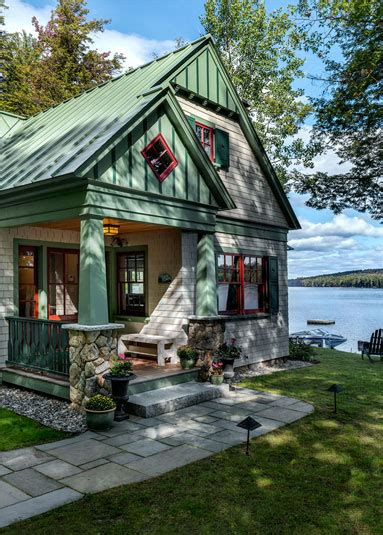 maine cottage plans lakeside maine cottage tms architects