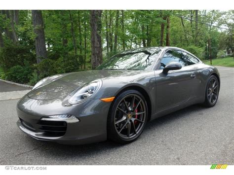 porsche gray 2013 agate grey metallic porsche 911 4s coupe