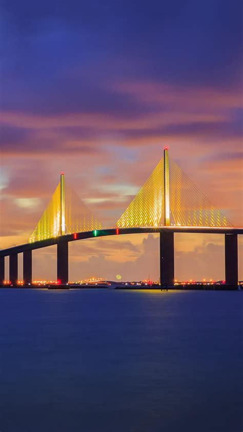 sunshine skyway bridge florida iphone wallpaper iphone