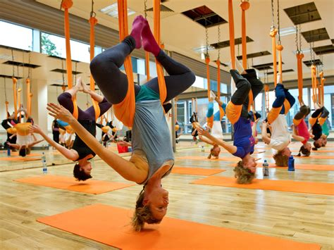 anti gravity yoga swing yoga classes six new types of yoga to try right now
