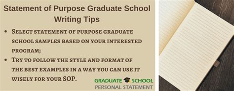 Graduate School Essay Tips by Statement Of Purpose Writing For Graduate School Application