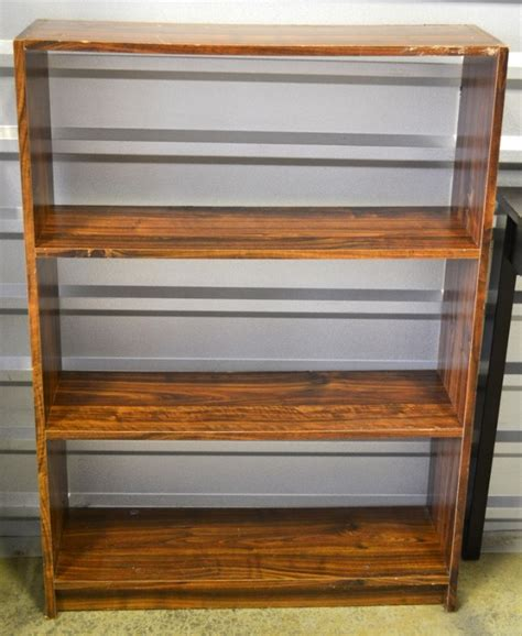 Small Desk Bookshelf Small Desk And Bookcase Leftovers Auction Equip Bid