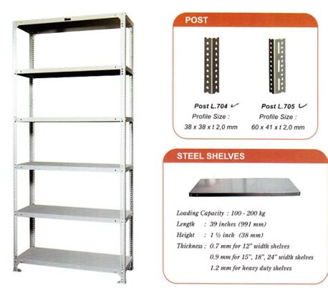 Rak Besi Berlubang light duty rack slotted angle rack