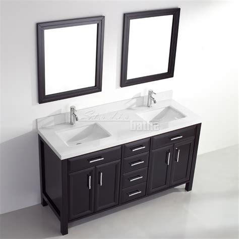 studio bathe calais 63 in vanity in espresso with solid surface calais 63 espresso