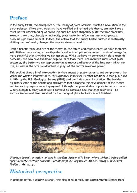Plate Tectonics Essay by 40910709 The Story Of Plate Tectonics