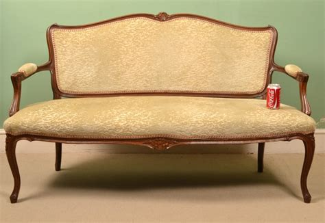 chaise settee furniture regent antiques sofas and stools antique french walnut
