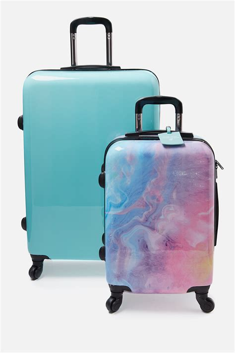 light blue luggage sets suitcase luggage bundle
