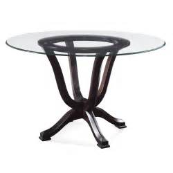 pedestal for glass dining table bassett mirror serenity glass pedestal dining table