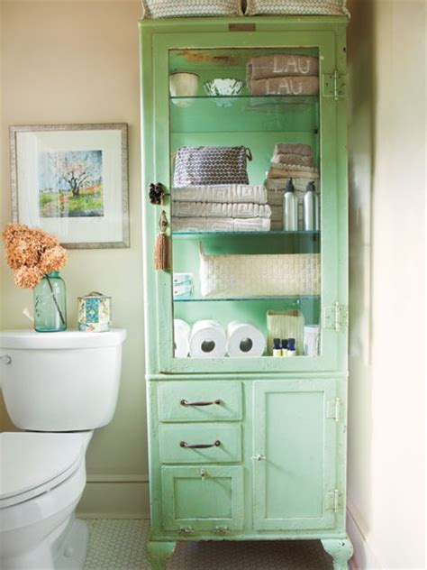 Vintage Bathroom Storage Ideas by Beach House Bathroom Storage