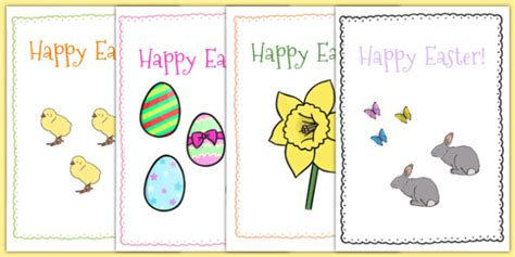 card insert template ks1 easter card templates a5 easter topic easter happy