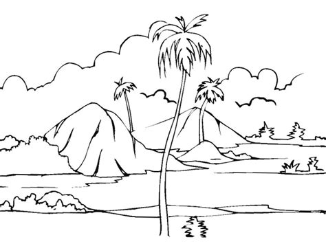Galerry beach coloring pages for kindergarten