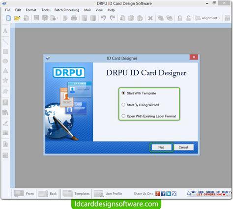 mac id card design software screenshots for designing and id card design software screenshots explains steps of