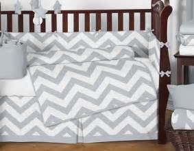 sweet jojo designs gray white chevron zigzag baby crib