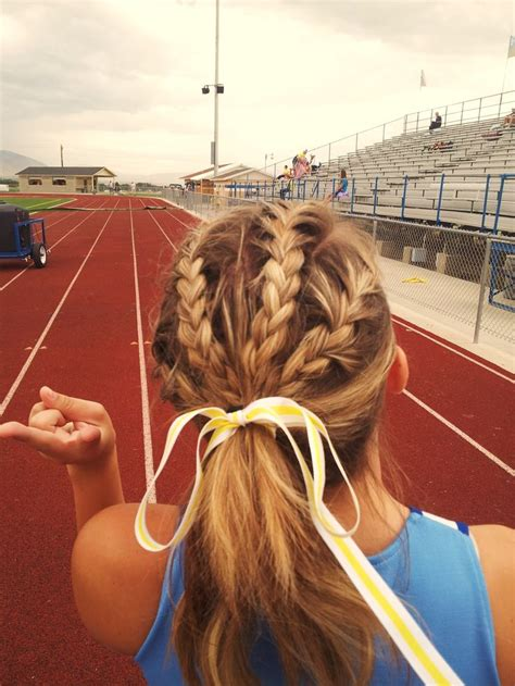 weave braided tracks braids this would be cute for volleyball games and track