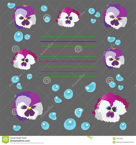 violets with dew on pics violets with dew on pics illustration with violets and dew