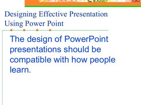 design effective powerpoint presentation effective presentation skills new01 ppt