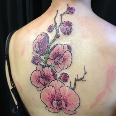 purple orchid tattoo designs orchid flower tattoos orchids
