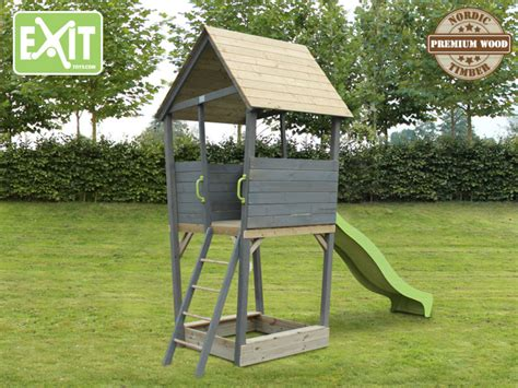 Stelzenhaus Streichen by Spielturm Aksent Mit Gr 252 Ner Rutsche