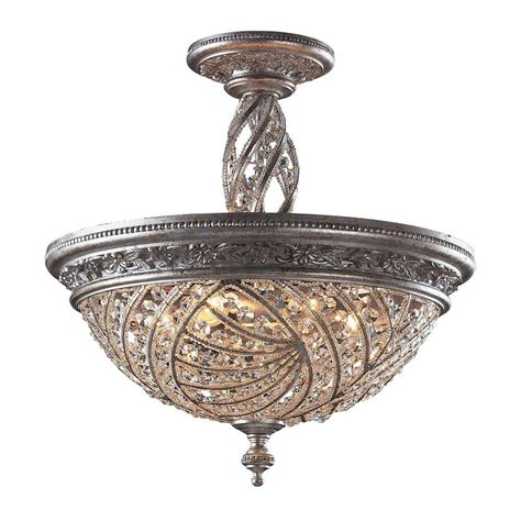 Silver Ceiling Lights Titan Lighting Renaissance 6 Light Sunset Silver Ceiling Semi Flush Mount Light Tn 5814 The