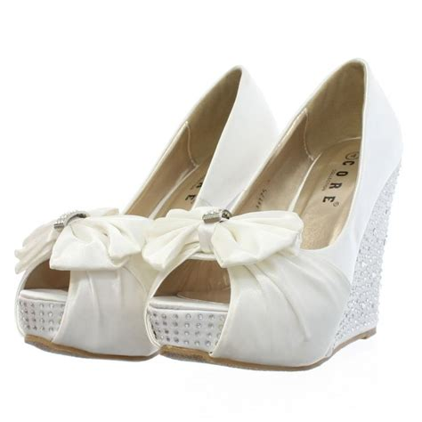 1000 ideas about wedge wedding shoes on lace