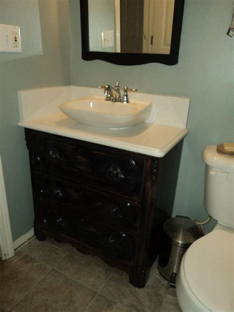 repurposed bathroom cabinet 17 best images about sewing machine vanity sink on
