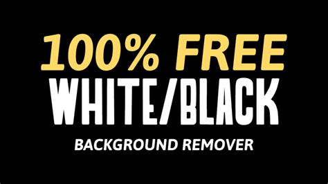 background remover free free background remover for white or black backgrounds
