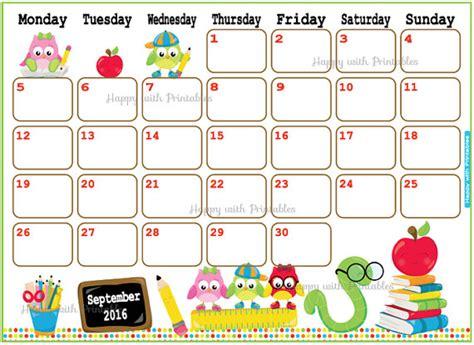Calendar 2017 September School September 2016 Calendar Fotolip Rich Image And