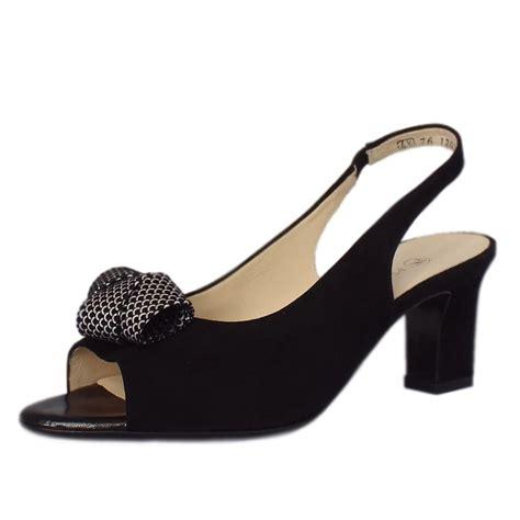 Sandal Fav Shoes 06 Sling Back kaiser uk vivett black suede mix sling back sandals