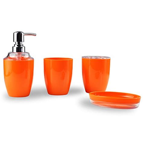 orange bathroom accessories set orange bathroom decor