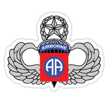 """82nd airborne master jump wings"" stickers by 5thcolumn"