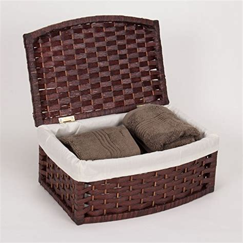 Basket With Paper - household essentials woven paper rope basket with lid