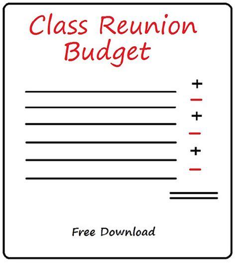 class reunion template class reunion budget free sle grouptravel org