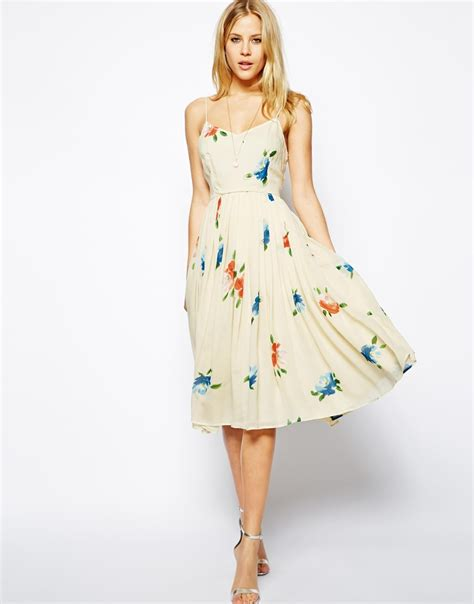 Dress Midi Flower what i want floral prints from asos