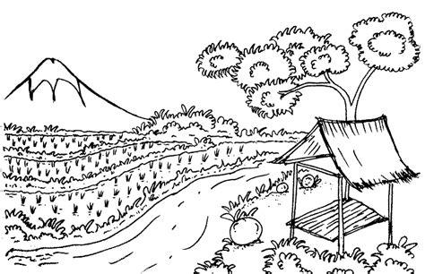 kumpulan gambar pemandangan alam untuk belajar mewarnai anak