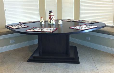 made kitchen area table for corner bench seating by