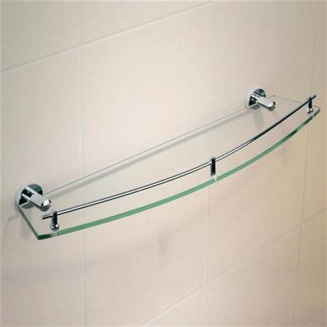 Metal And Glass Bathroom Shelf Caroma Cosmo Bathroom Wall Metal Glass Shelf Single