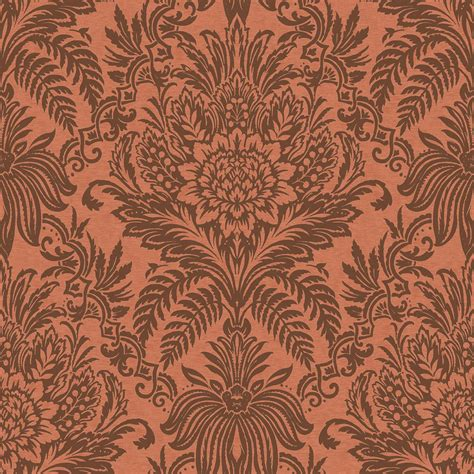 wallpaper grey and copper crown signature damask wallpaper teal ebony grey copper