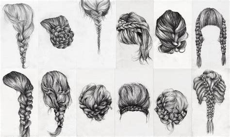 drawing hairstyles braid braid study ongoing lauren munns