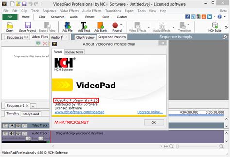 tutorial videopad by nch software nch videopad video editor 4 10 professional crack mhktricks