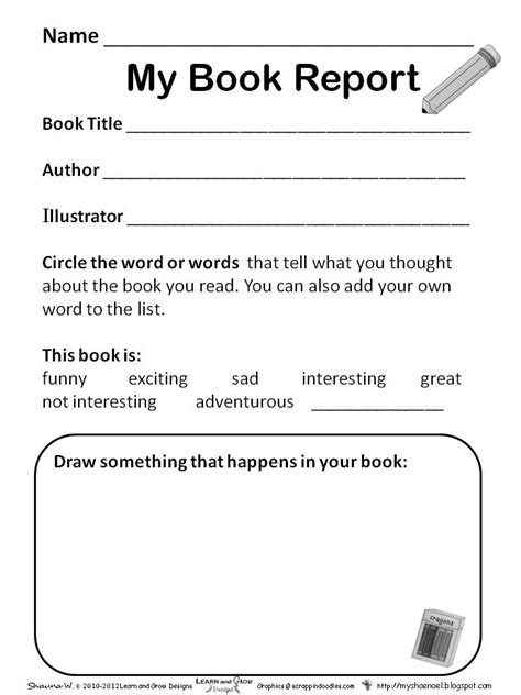 simple book report template learn and grow designs website book report freebies for